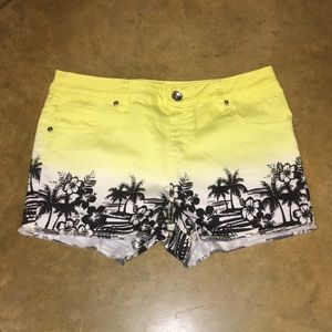 Justice shorts- Girls Size 16.5 - yellow